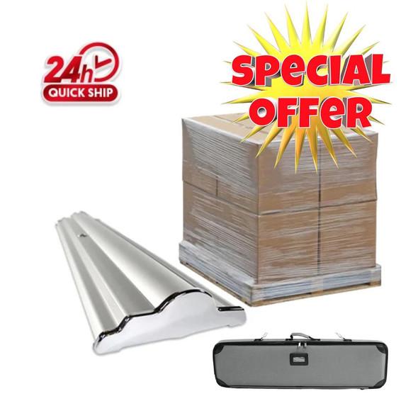 48pcs 36''x92'' Premium Banner Stand Frame Only / 48'' x 48'' x48'' / 750lbs/1 Pallet