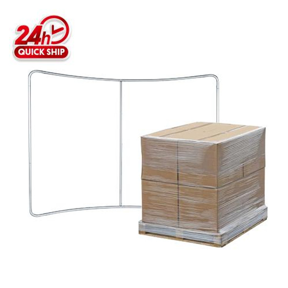 20pcs 10' x 7.5' Curved Tube Display Frame Only / 48''X 48''X 48''/ 400LBS/1 Pallet