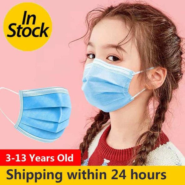 Kid Disposable Face Mask (Blue)