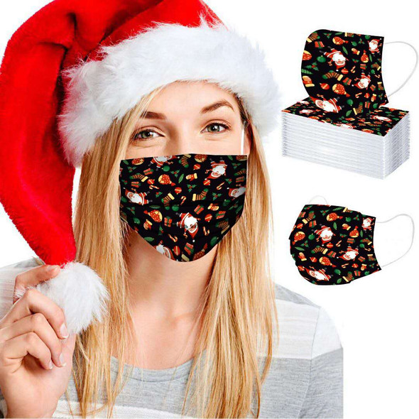 CHRISTMAS DISPOSABLE MASKS (5 COLOR ONE BOX)