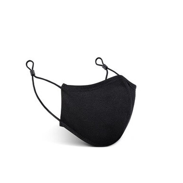 Black 3D Cotton Mask (2 layer ) with Adjustable Earloop