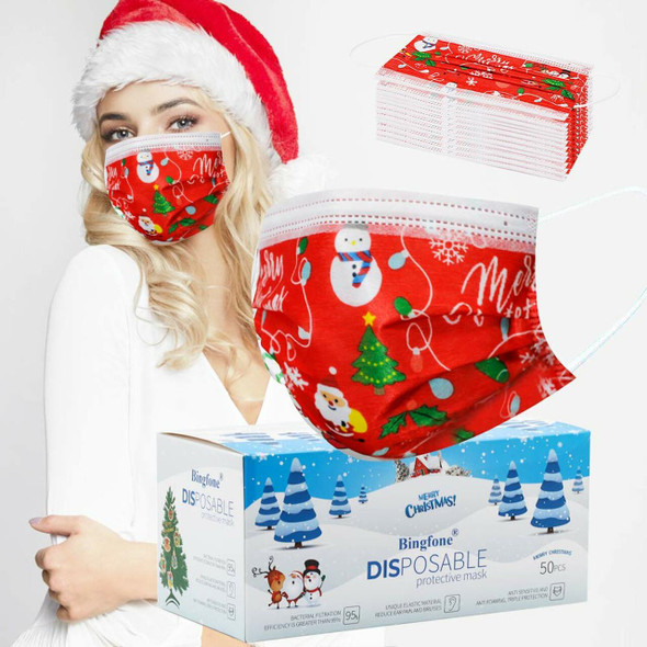 Adult Christmas Disposable Face Mask
