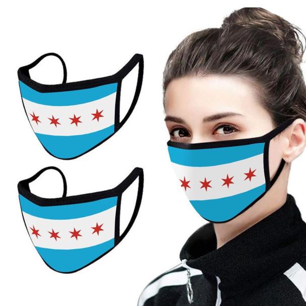 Chicago Flag Mask