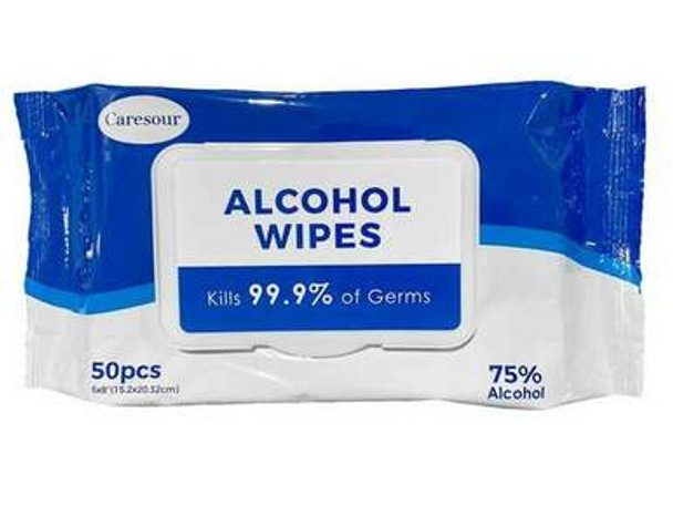 75% ALCOHOL 50 WIPES (NEW)