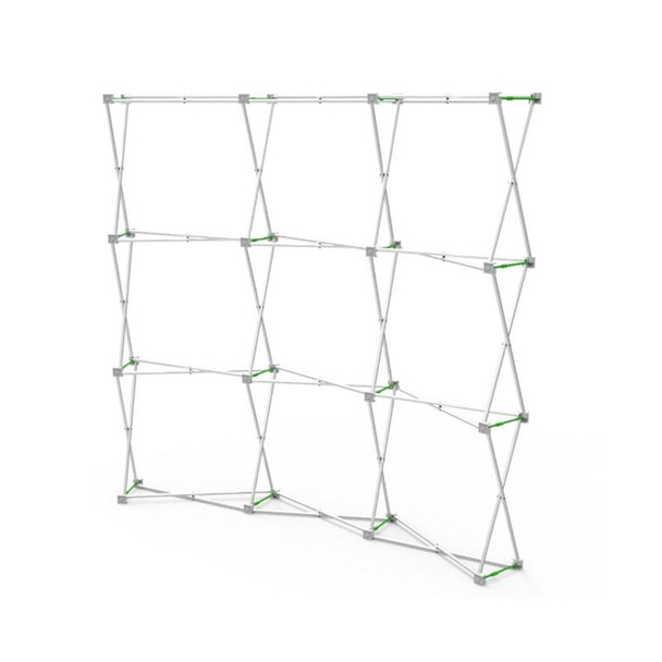 8ft Curve Velcro Fabric Pop Up Display