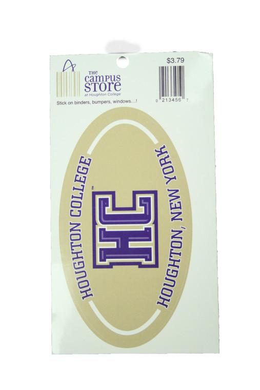 Oval Houghton College HC Sticker