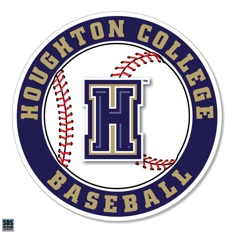 Houghton College Baseball Vinyl Decal