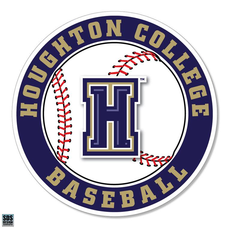 Houghton College Baseball Vinyl Decal