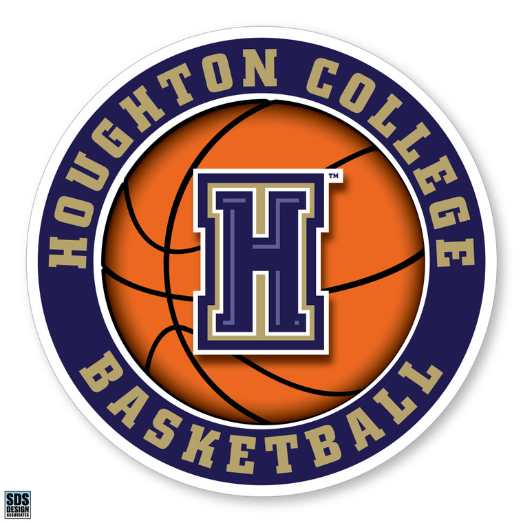 Houghton College Basketball Vinyl Decal