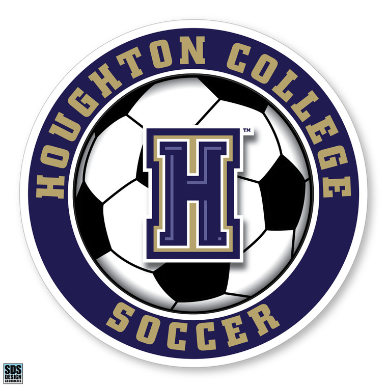 Houghton College Soccer Vinyl Decal