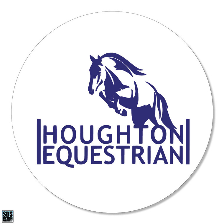 Houghton Equestrian Vinyl Decal with Jumping Horse