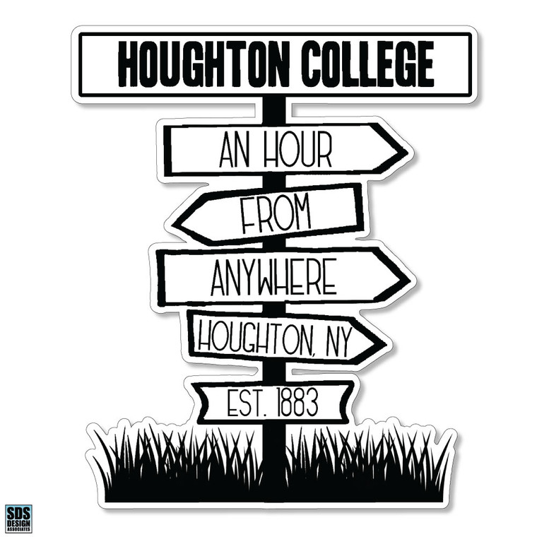 Houghton Vinyl Decal - An Hour From Anywhere