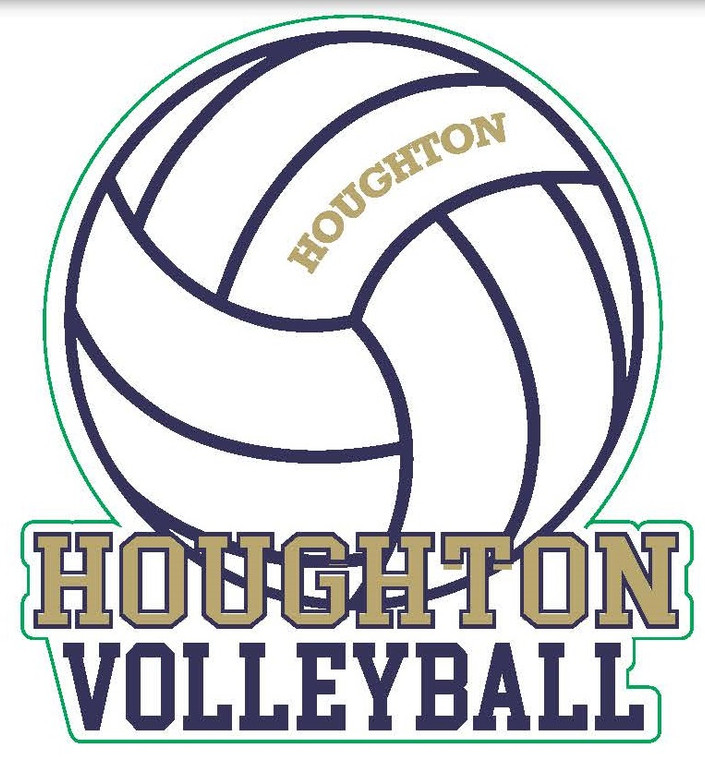 Houghton Volleyball Decal