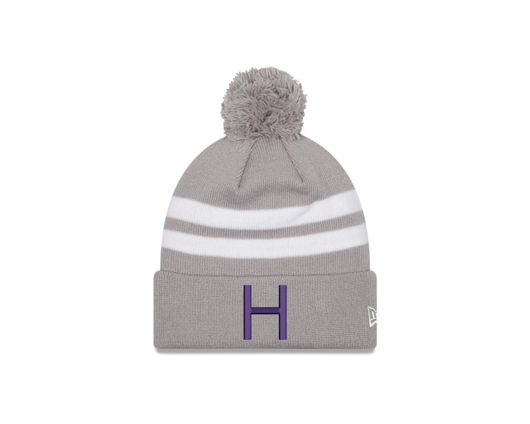 Houghton Knit Hat with Purple H