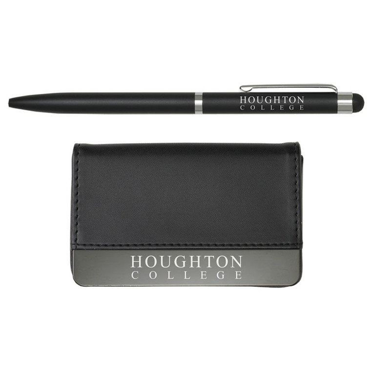 Houghton College Cardholder and Pen with Stylus