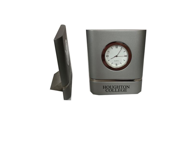 Silver Houghton Desk Clock