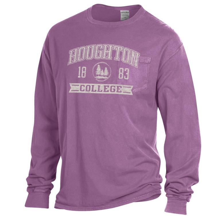 Houghton College Comfort Wash Long Sleeve Tee