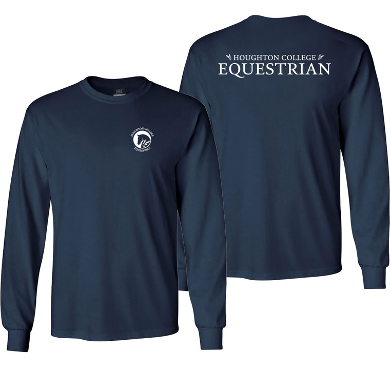 Houghton College Equestrian Long Sleeve Tee