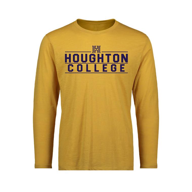 Houghton College Long Sleeve Slub Tee