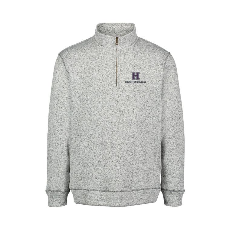 Houghton College 2-Tone Sweater Fleece Quarter Zip