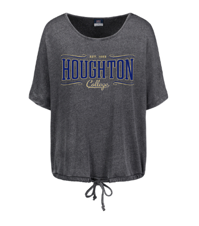 Houghton College Women's Angel Terry Slouch Tee