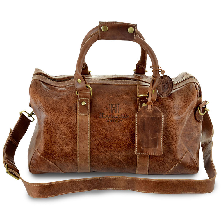 Houghton College Leather Duffel