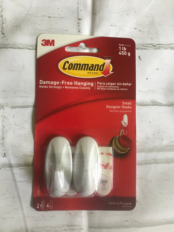 Command Hooks, Small, Decorate Damage-Free, Indoor Use