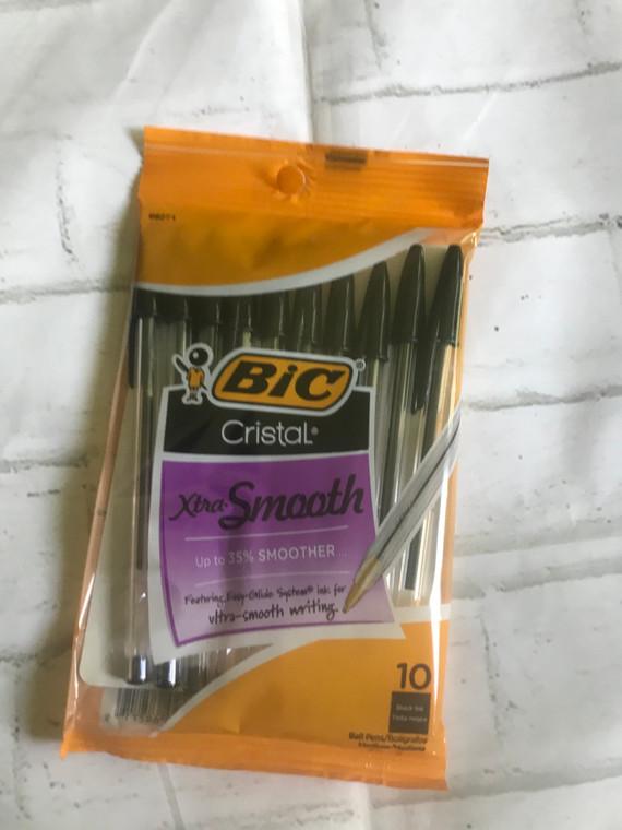 Bic Crystal Black Medium Point Pen 10 pack