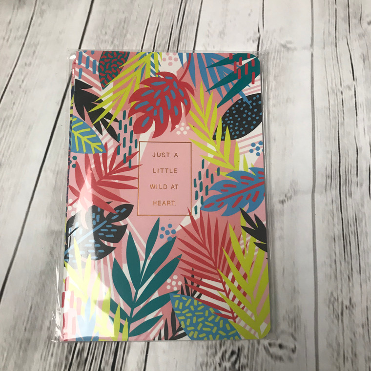 Just a Little Wild at heart Notebook - Set of Two