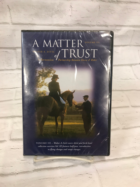 A Matter of Trust by Walter Zettl - Volume III DVD