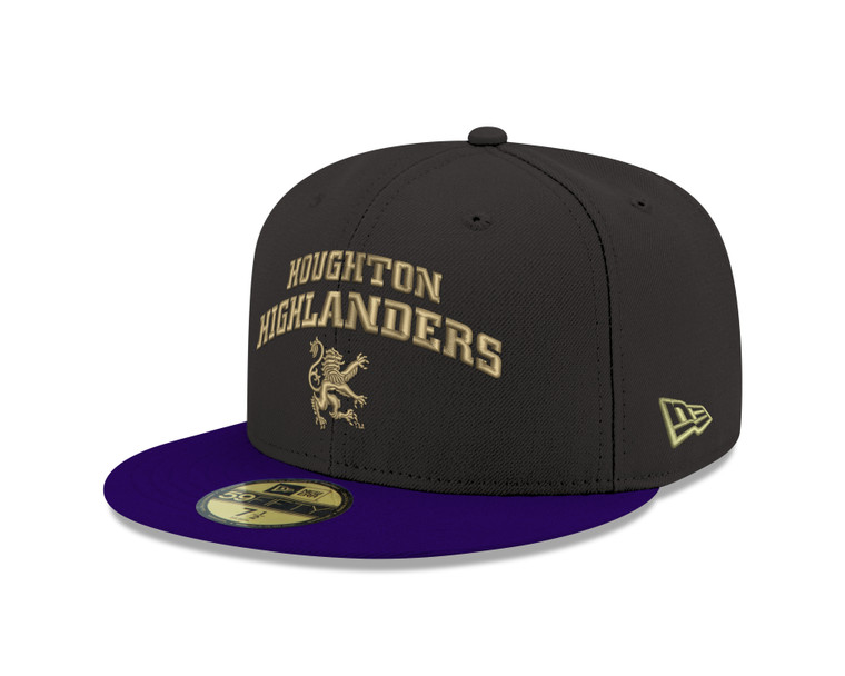 Houghton Highlanders Purple and Black Hat