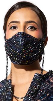 Wonderland Tweed Chained Mask