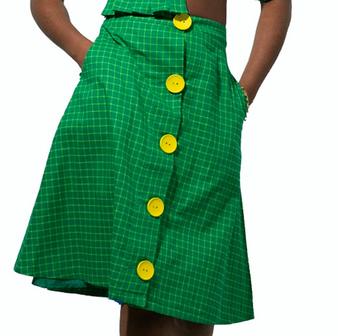 Skirt, plaid, checks, vintage, indie, couture