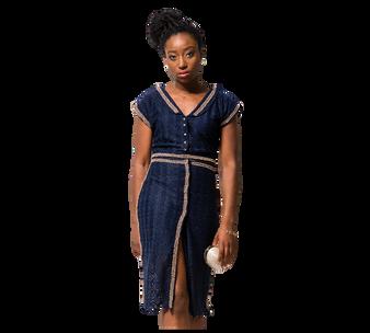 Viola Desmond Embellished Lace Blouse