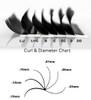 Lash Curl & Diameter Chart
