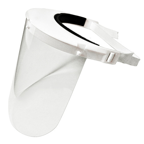 Enclosed Face Shield | White