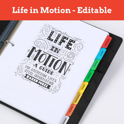 Life in Motion Guide Fillable Forms PDF
