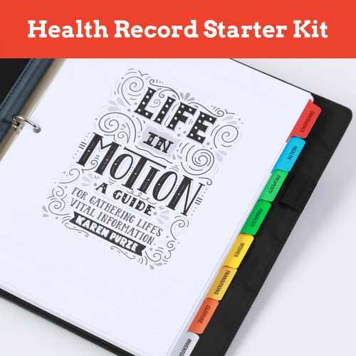 Life in Motion Guide Personal Health Record and Medication List Template PDF