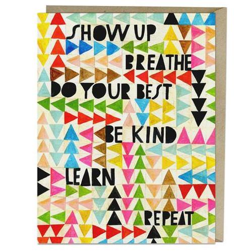 Lisa Congdon Show Up, Breathe Empathy Card