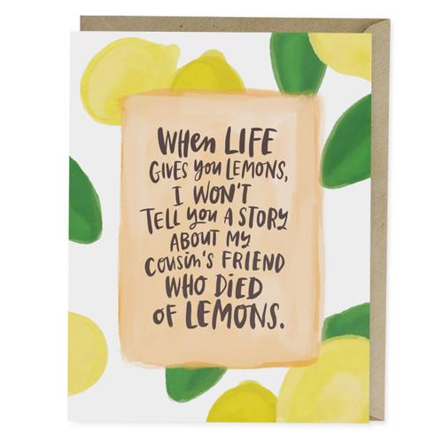 Emily McDowell Died of Lemons Empathy Card