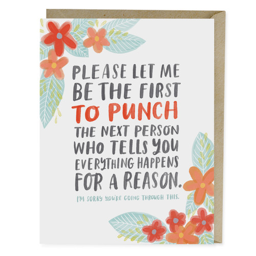 Emily McDowell Everything Happens for a Reason Empathy Card