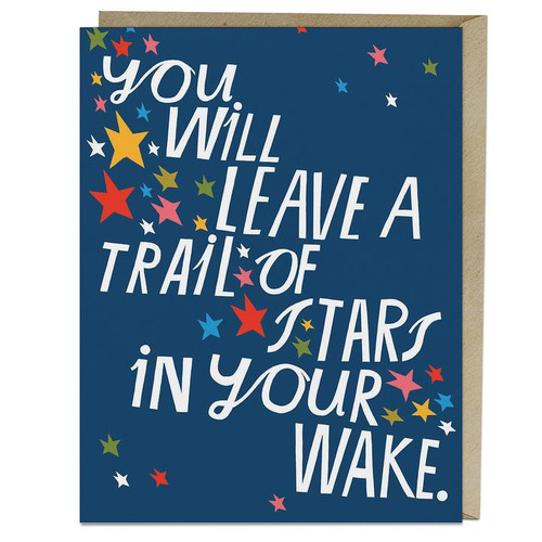 Lisa Congdon - You will leave a trail of stars in your wake. - Greeting card.