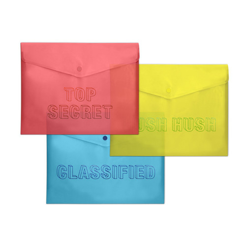 Knock Knock Top Secret Snap Folders
