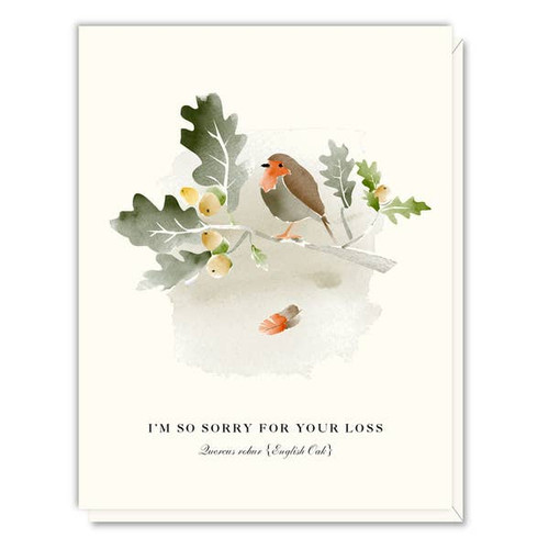 Driscoll Design - Oak and Bird Sympathy Card