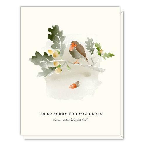 Driscoll Design - Oak and Bird Sympathy Card