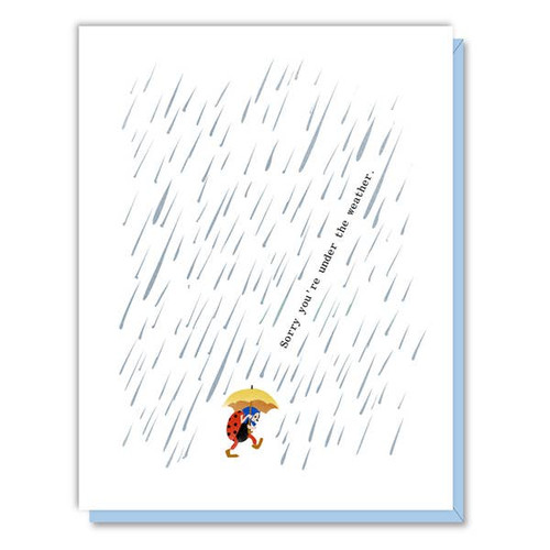 Driscoll Design - Under the Weather Bug Get Well Card