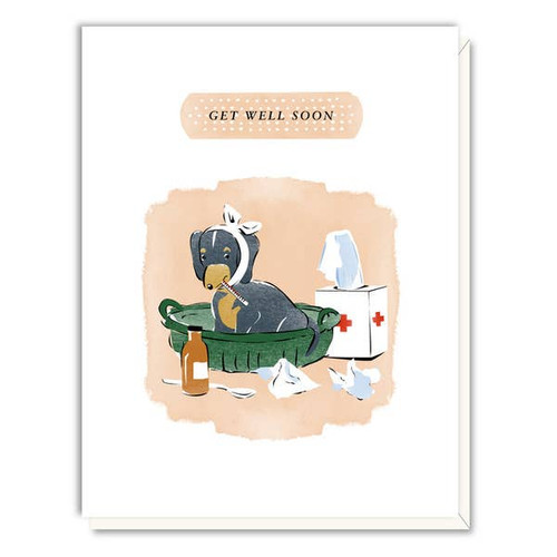 Driscoll Design - Sick as a Dog Get Well Card