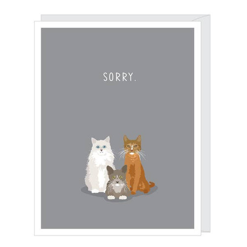 Loss of a pet cat sympathy card.