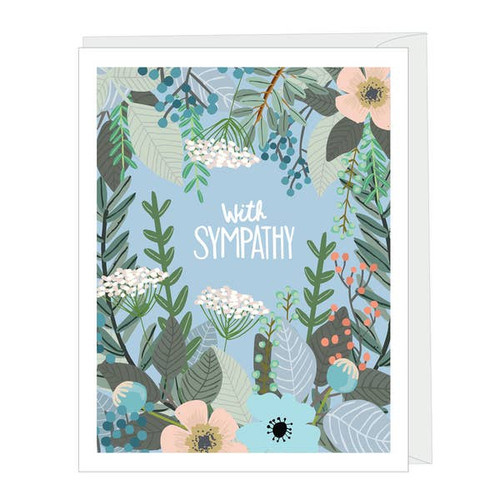 Modern floral with sympathy card by Apartment 2 Cards