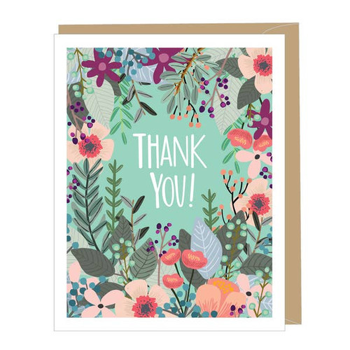 Modern, floral thank you card by Apartment 2 Cards .